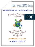 International Education Week - 2018 at Morgan State University, USA
