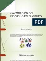 Integración Del Individuo en La Sociedad