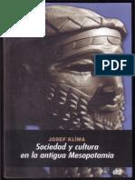 Klima Josef. Sociedad y Cultura en La Antigua Mesopotamia