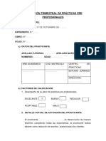 Modelo de Evaluación Trimestral de Prácticas Pre Profesionales UPLA