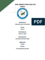 ACTIVIDAD II.docx, Educacion Para La Diversidad