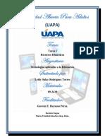 Tarea 1. de Tecnologia Aplicada a La Educacion