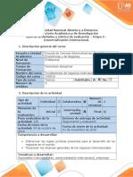 Guía de Actividades y Rúbrica de Evaluación - Etapa 3. Comercialización Internacional