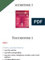 Touchstone 1 Class 1