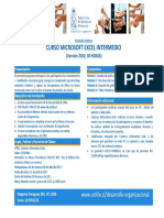 Programa Excel Intermedio Avanzado PDF 195 Kb