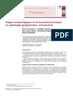 Pièges Morphologiques Et Immunohistochimiques