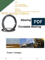 WCB Swing Circles Slewing Ring Rotary Bearing Turntable Bearing Excavator Swing Bearings