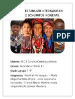 Necesidades Para Ser Integrados en La Sociedad Los Grupos Indigenas.....