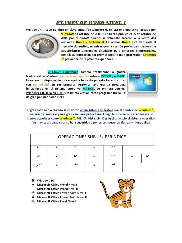 EXAMEN DE WORD NIVEL 1 docx