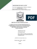 Modelo de Proyecto de Investigacion Para Titulo