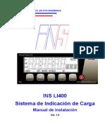 Manual de Instalación INS LI400 Sistema de Indicación de Carga E 170713