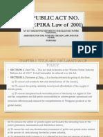 Epira Law Ppt