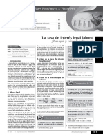 Tasa de Interes Legal Laboral