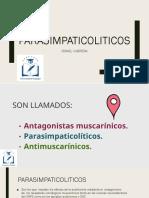 FARMACOLOGIA MUSCARINICOS