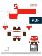 Insude Out Papercraft Anger