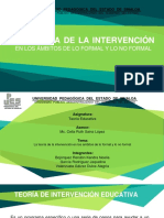 Teoria de intervencion educativa