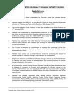 Status of Climate Change Initiatives in Pakistan- Saadullah Ayaz