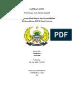 """""""Post Syncope Pada Anemia Aplastik (CASE REPORT)"""