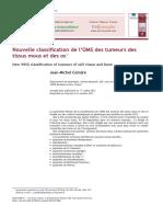 Nouvelle Classification de l'OMS Des Tumeurs Des Tissus Mous Et Des Os