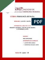 Informe de Laboratorio de Fisiología Humana Practica n 10