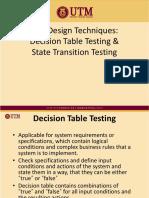 UTM decision table