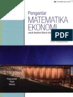 Pengantar Matematika Ekonomi J.1