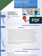 Formulacion de Proyecto de Inversion Publica - Grupo 6