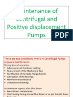 Maintenance of Pumps