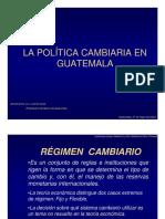 Politica cambiaria en guatemala