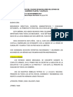 Programa Cívico Del Colegio de Bachilleres Del Estado de Guerrero Plantel 7 Acapulco