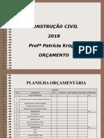 Aula 27 2018 Orçamento Planilhas
