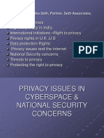 Privacy Issues in Cyberspace-ppt