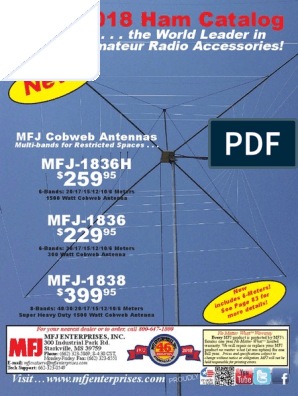 MFJ-3215 Amateur Extra Class Quick Study Guide