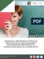 Curso Instalaciones Mantenimiento Redes Fibra Optica Online
