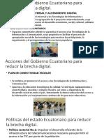 Acciones Del Gobierno Ecuatoriano Para Reducir La Brecha