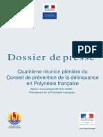 Dossier de Presse -- Conseil de Prévention de La Délinquance