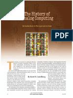 The History of Analog Computing