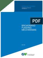 Broadband Funding Mechanisms Caf