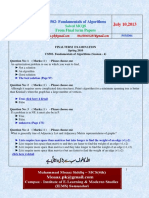 CS502 Fundamentals of Algorithms 2013 Final Term Mcqs Solved With References by Moaaz
