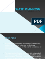 Aggregate Planning Converted