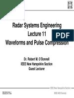 Radar 2009 A_11 Waveforms and Pulse Compression