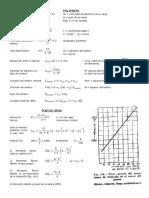 Formulas, Tablas y Cable