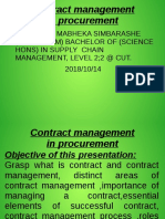 Contract Management Notes