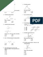 Latihan Matematika Kelas 7