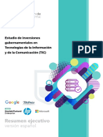 Inversion Gubernamental en TIC