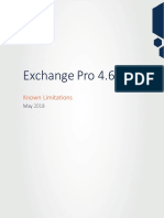 Exchange Pro 46 Known Limitations
