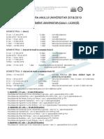 Structura Anului Universitar FCFDP 2018 2019