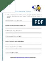 Orações Coordenadas e Subordinadas - Exerc. IX