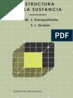 Estructura de La Sustancia - M. J. Karapetiants, S. I. Drakin (2da Edición) Copy