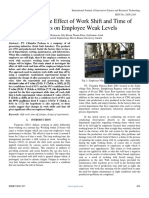 Analysis of the Effect of Work Shift and Time of Holidays on Employee Weak Levels
